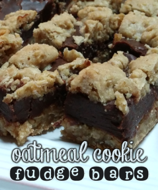 oatmeal cookie fudge bars.