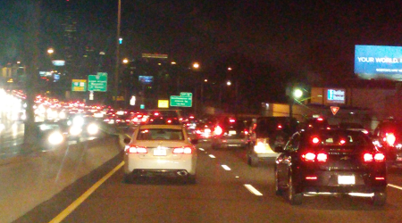 night traffic.