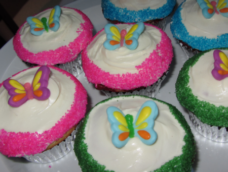tinkerbell cupcakes.