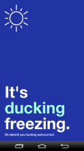 it's ducking...