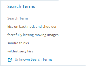 sandra's search terms.