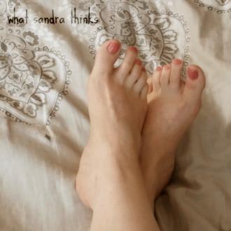 bare feet.