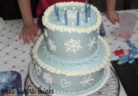 frozen cake.