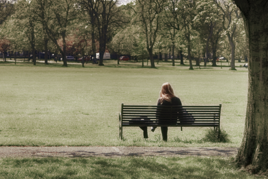 girl alone.