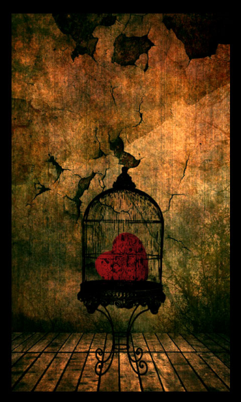 heart in a cage.