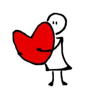 heart hug.