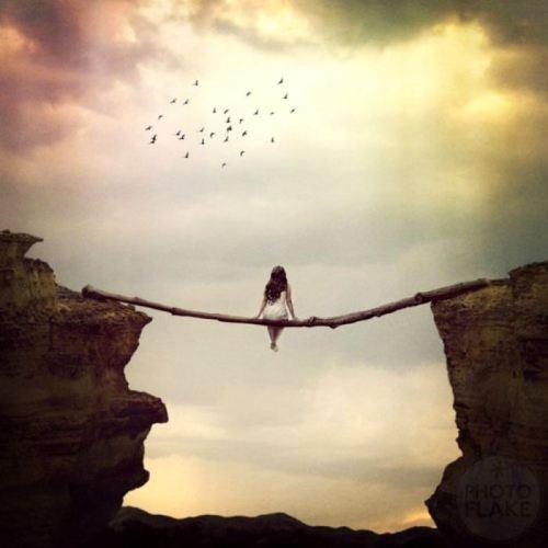 balancing girl.