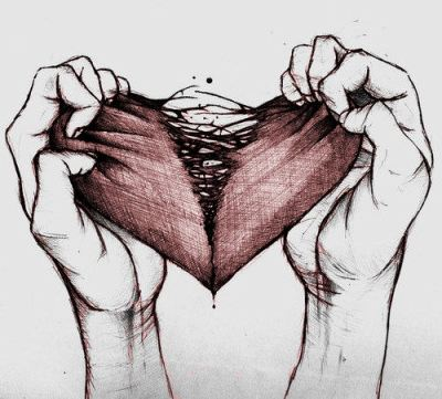 ripped heart.