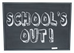 school's out.