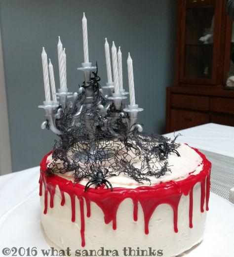 goth cake.