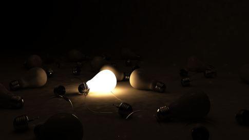 one light.