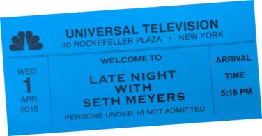 late night with seth meyers.